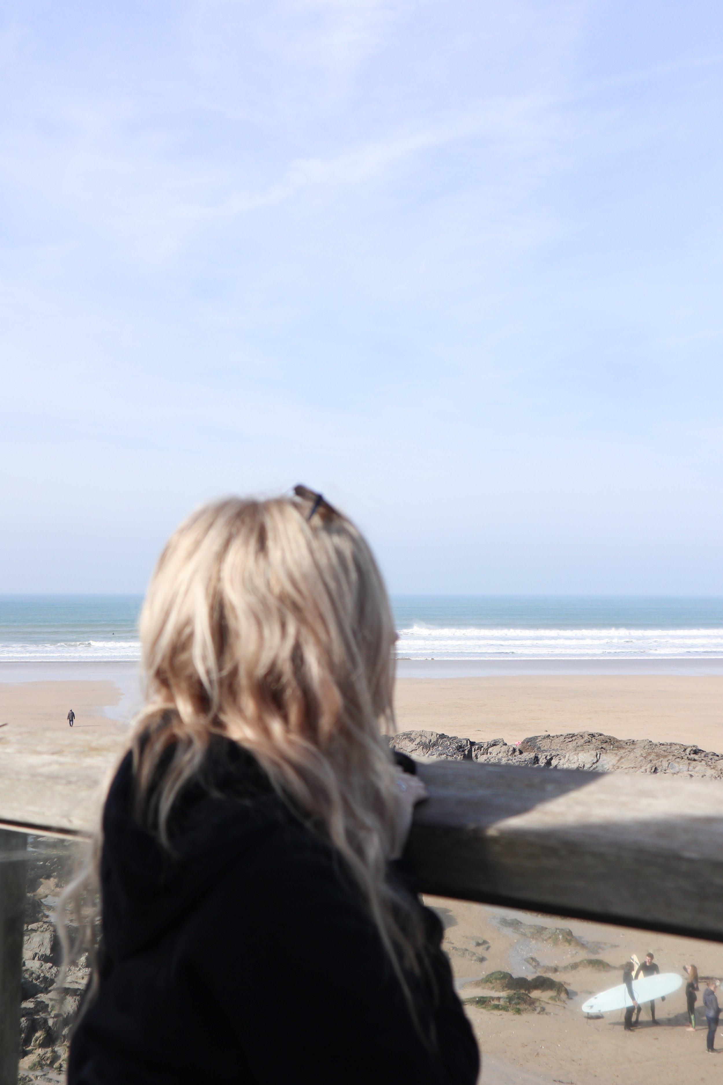 Anna at Sea Spay, Fistral