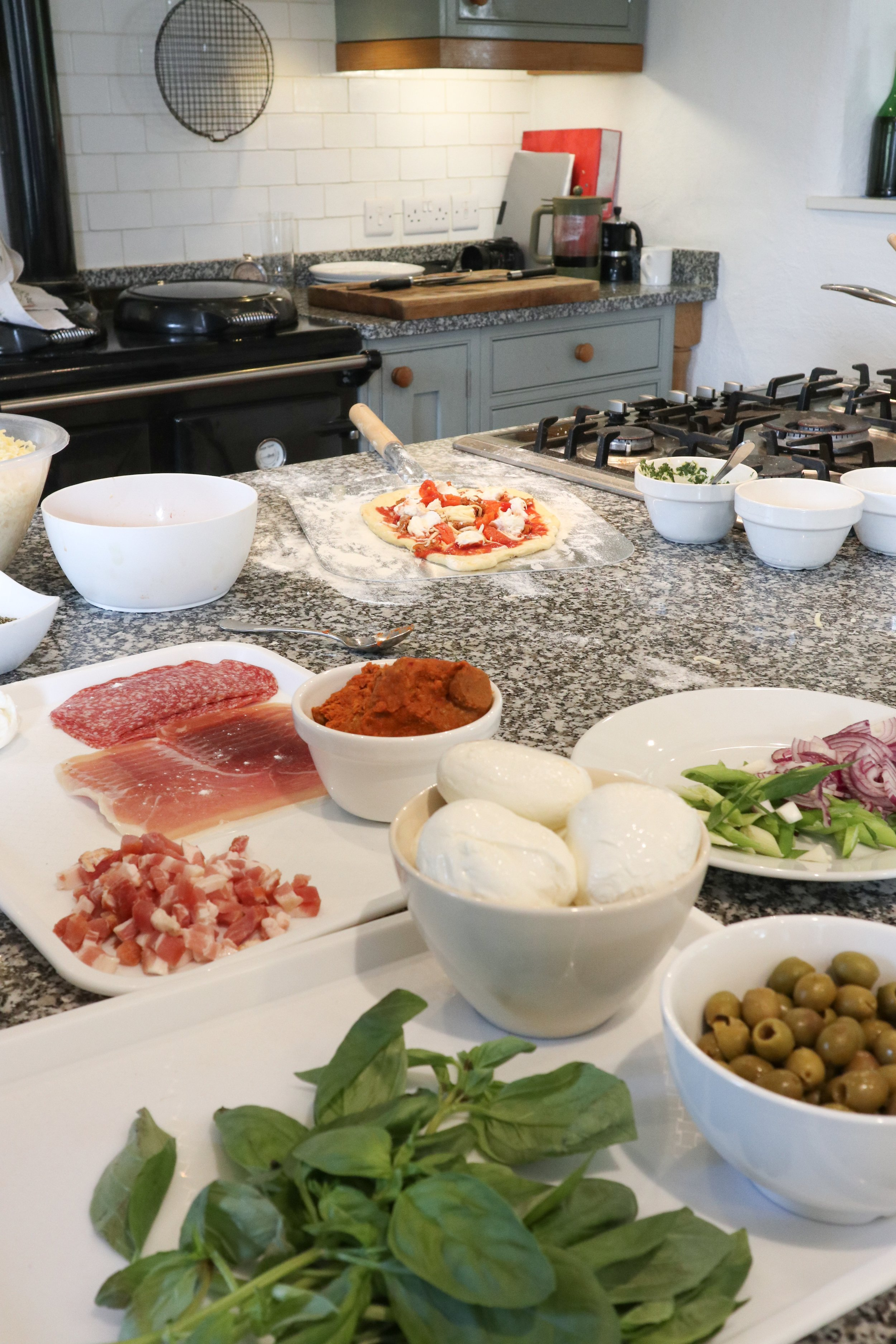Philleigh Way Cookery School - pizza dough