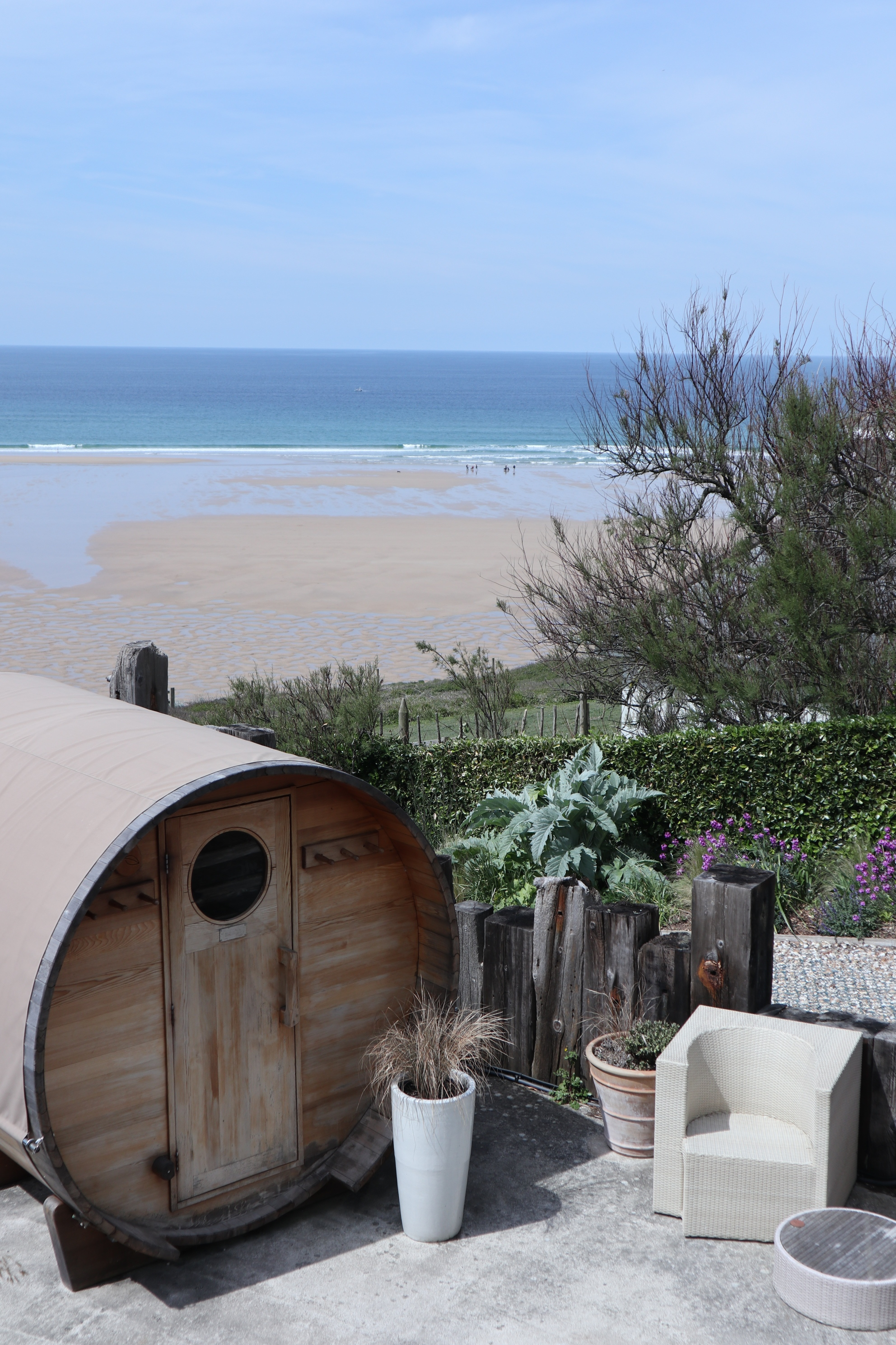 The Scarlet Hotel in Mawgan Porth is home to Cornwall's most luxurious spa. Enjoy views from the cliff hot tub over the beach and relax by the pool.
