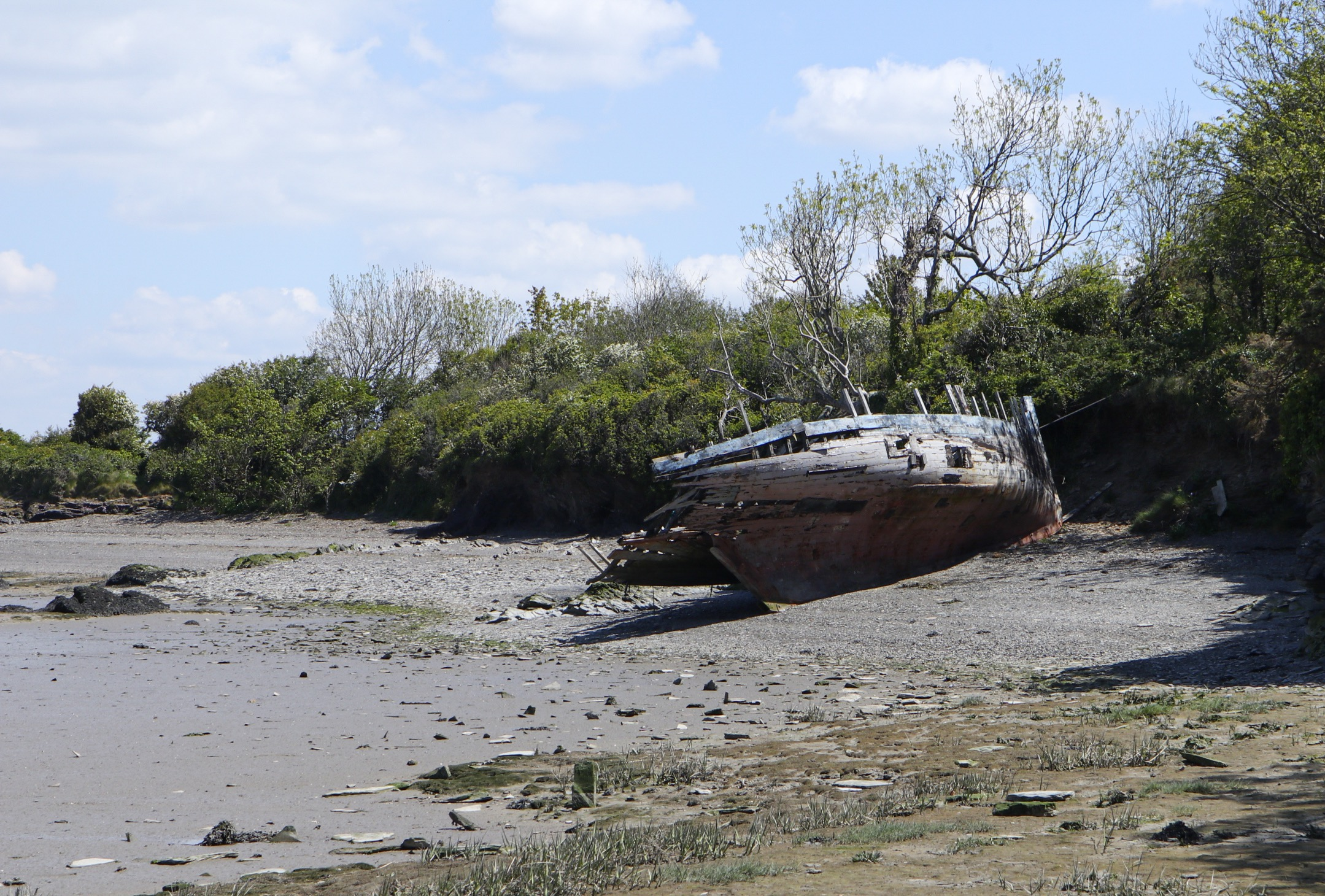 abandoned boats in Cornwall