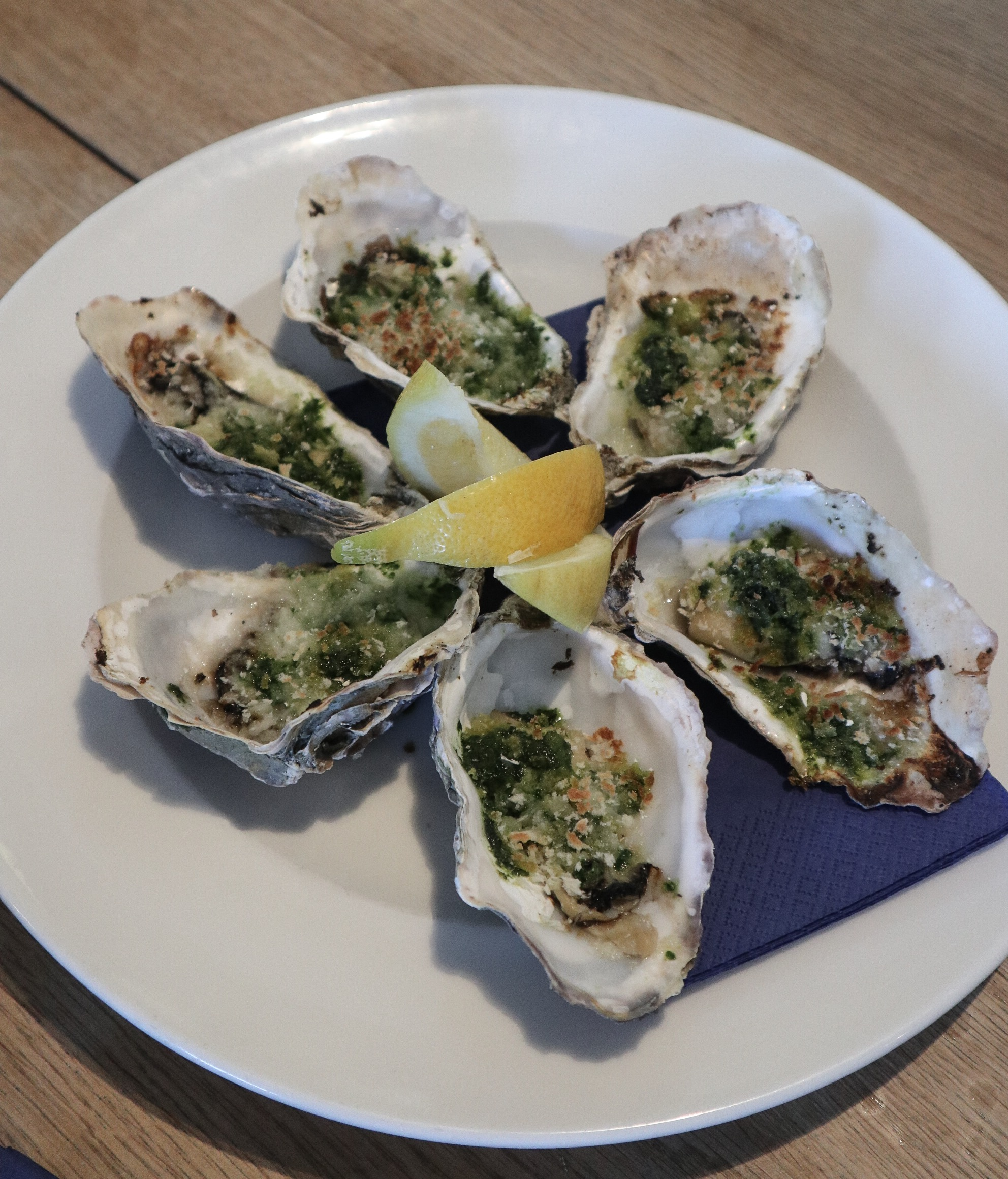 Rockefeller Oysters at Rick Stein Falmouth