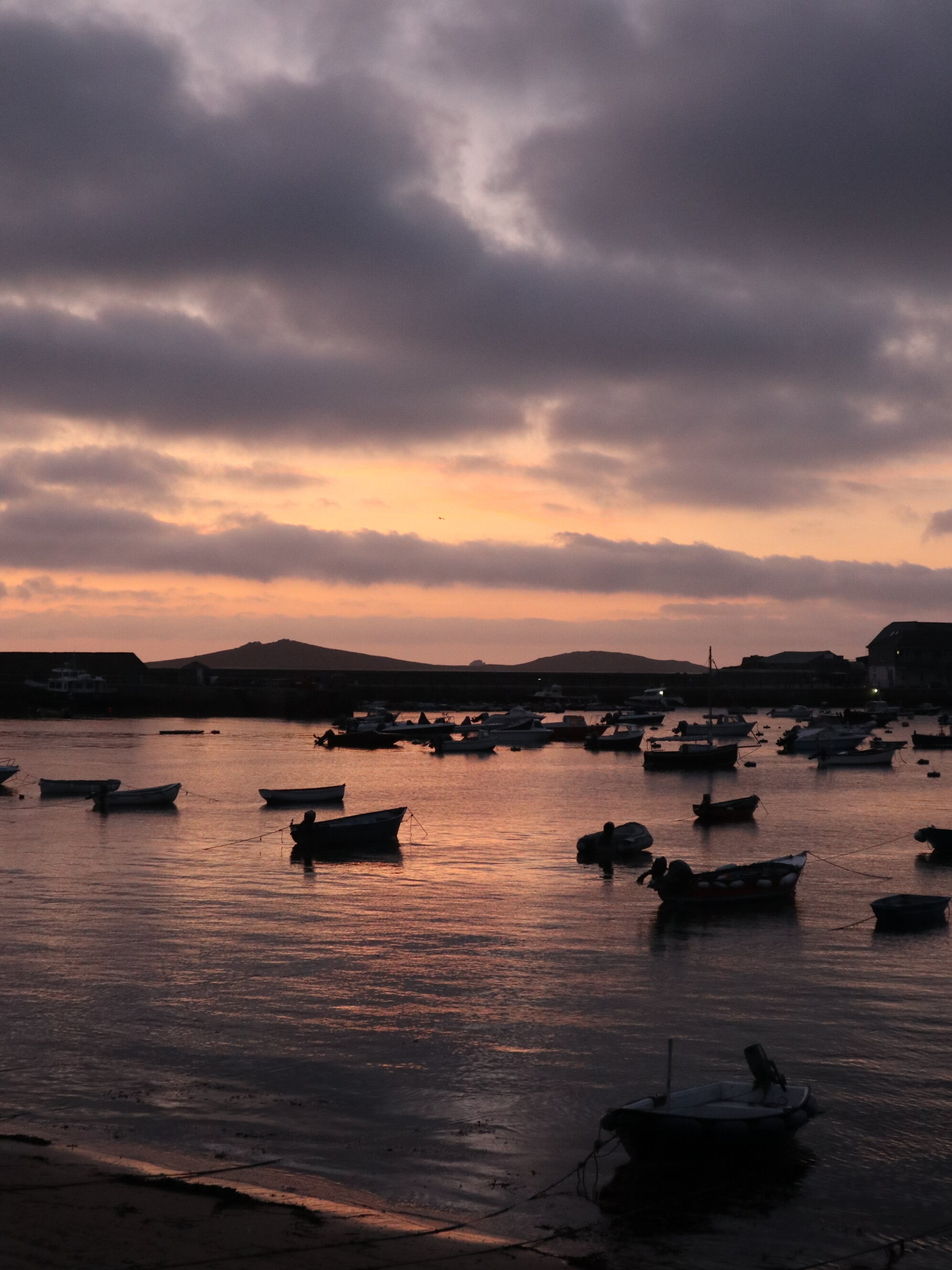 sunset on the isles of scilly