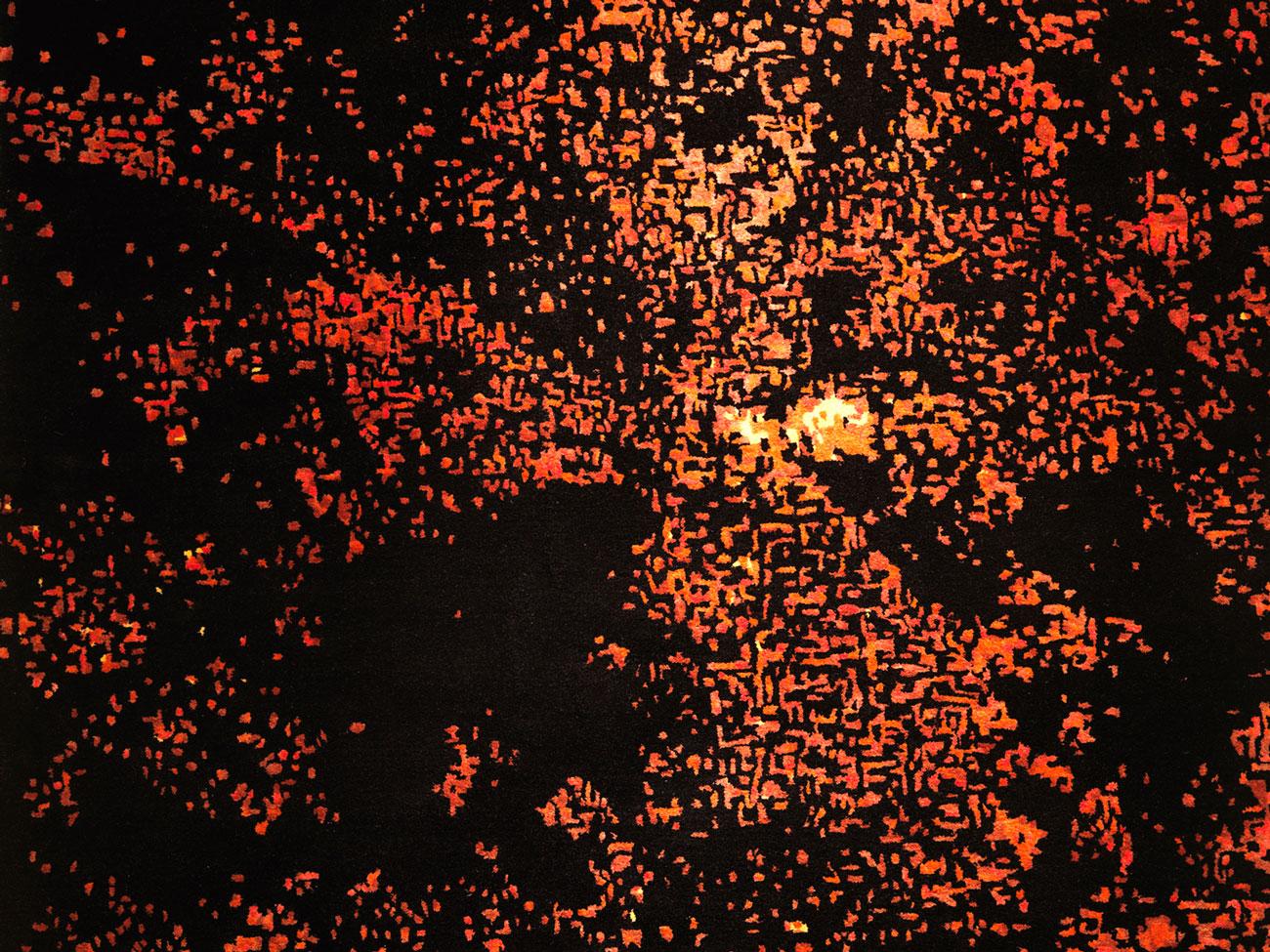 DETAIL of Foco Rojo rug.