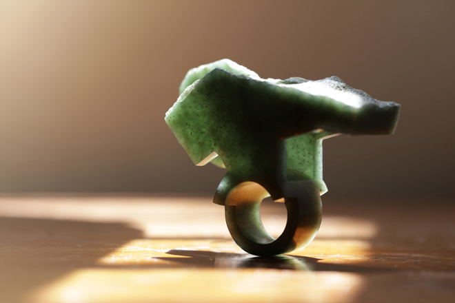 JADE RING - the beauty of a subtle investigation into one of the hardest stones to carve.