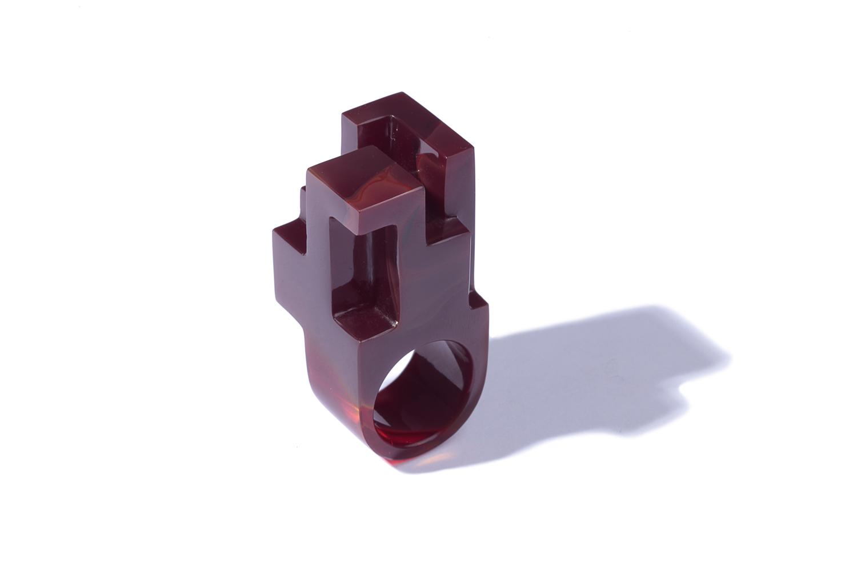 JORGE YÁZPIK - RED GLASS RING II