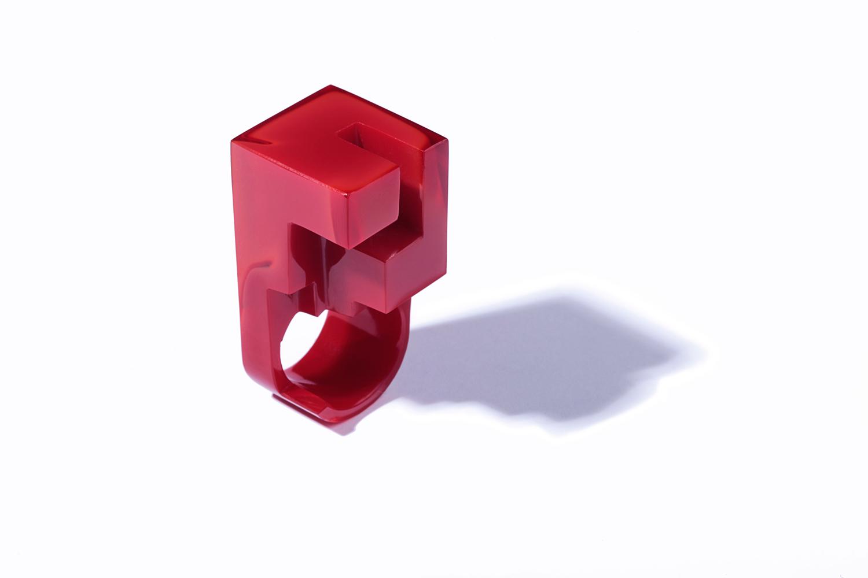 JORGE YÁZPIK - RED GLASS RING IV