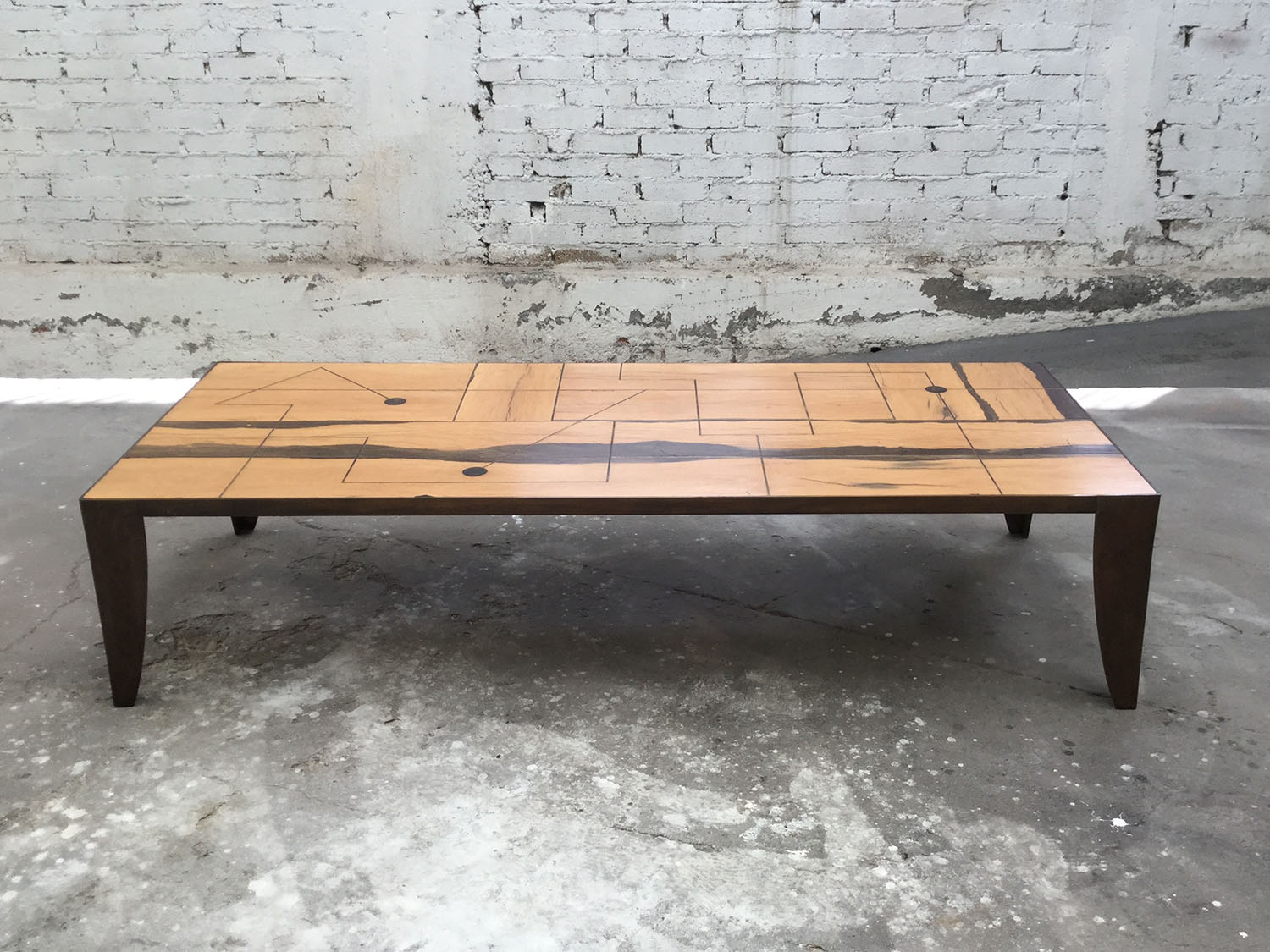 THIERRY JEANNOT - BRASS INLAY TABLE