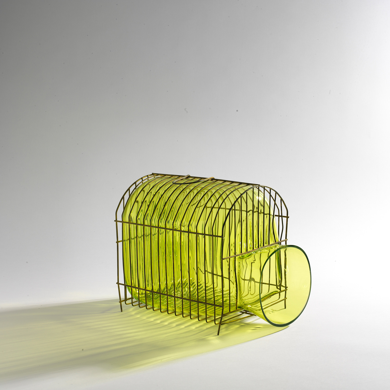 yellow cage house glass mouthblown
