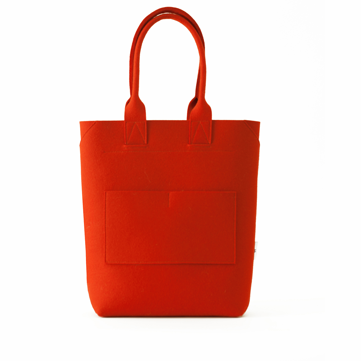 TOTE bag - felt - orange
