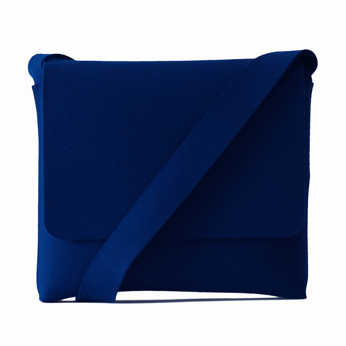 Messenger bag - felt - blue