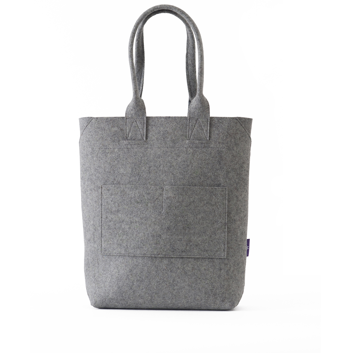 TOTE bag - felt - light grey