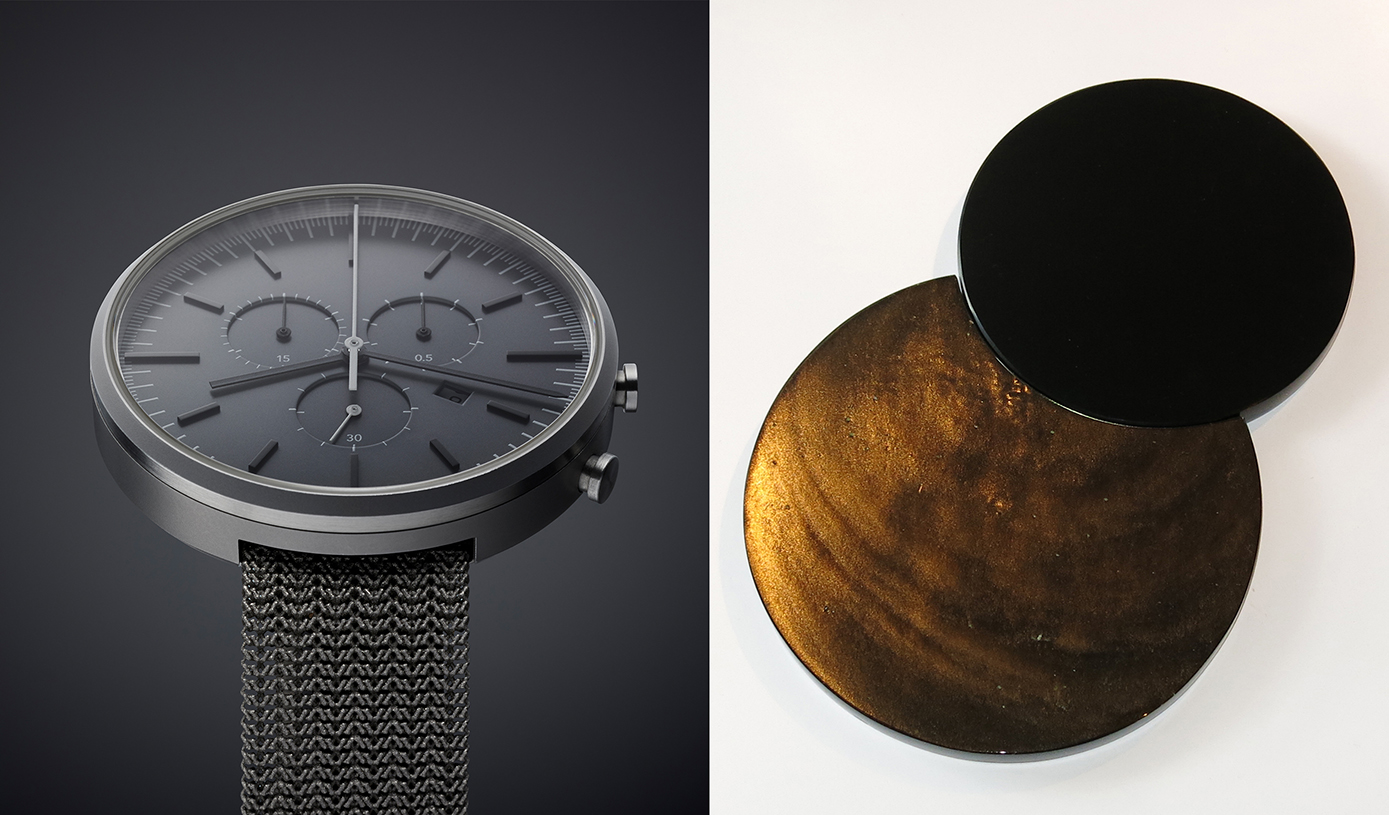 Obsidian-TitaniuMMATERIAL / PROCESSES / TIME - a collaboration with Uniform Wares