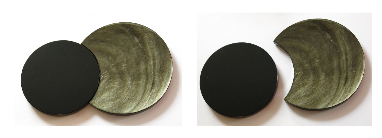 'ECLIPSE' - golden sheen and jet-black Obsidian. Designer: Silvino Lópeztovar Artisan: Daniel Juárez Disciplina, Hidalgo