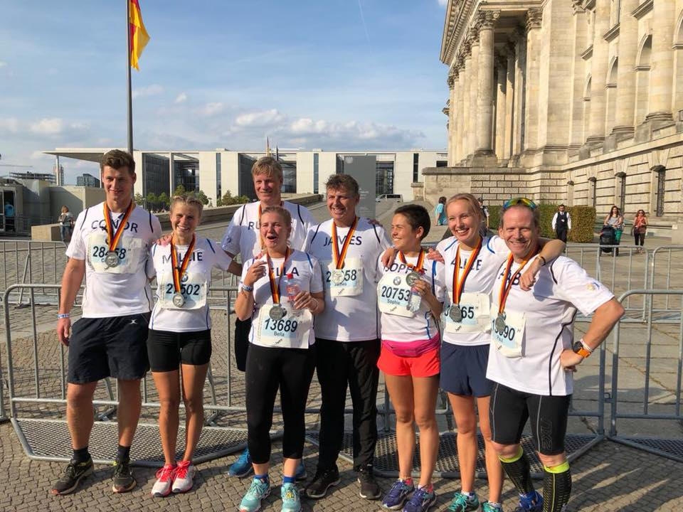Challenge 2 - teamArchie had 8 fundraisers in the Berlin Marathon including Paul and James Lloyd, Archie's father.