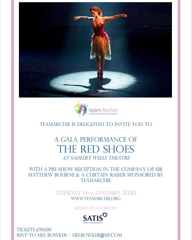 First day of tickets on sale for our Gala Performance and last day of our Rehearsal Raffle! Link in bio for the chance to win a  fascinating insight into the 'behind the scenes' of @matthewbourne13's new production #theredshoes @mbnewadventures #balletlovers