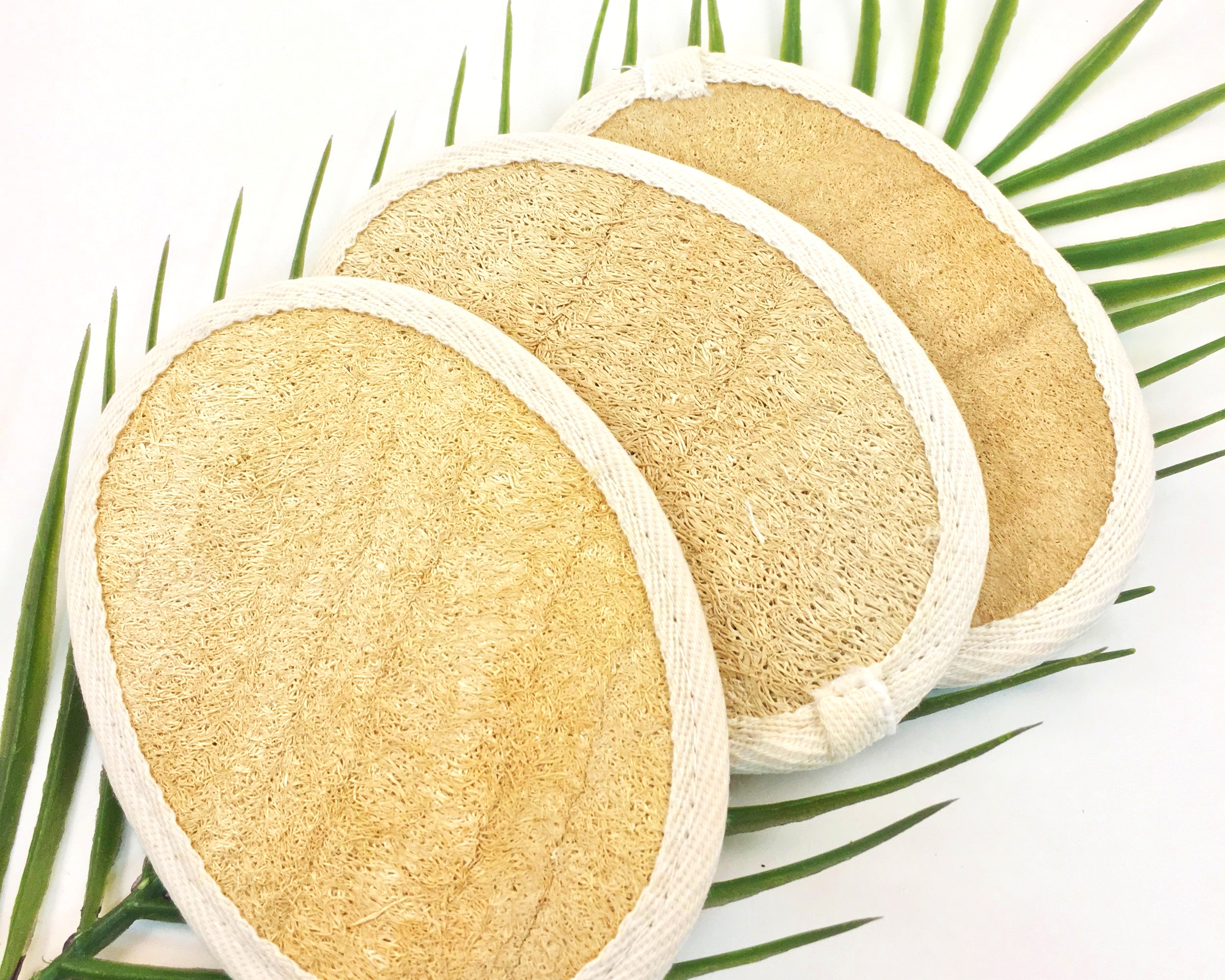 - Made from the Loofah Fruit Fibers
