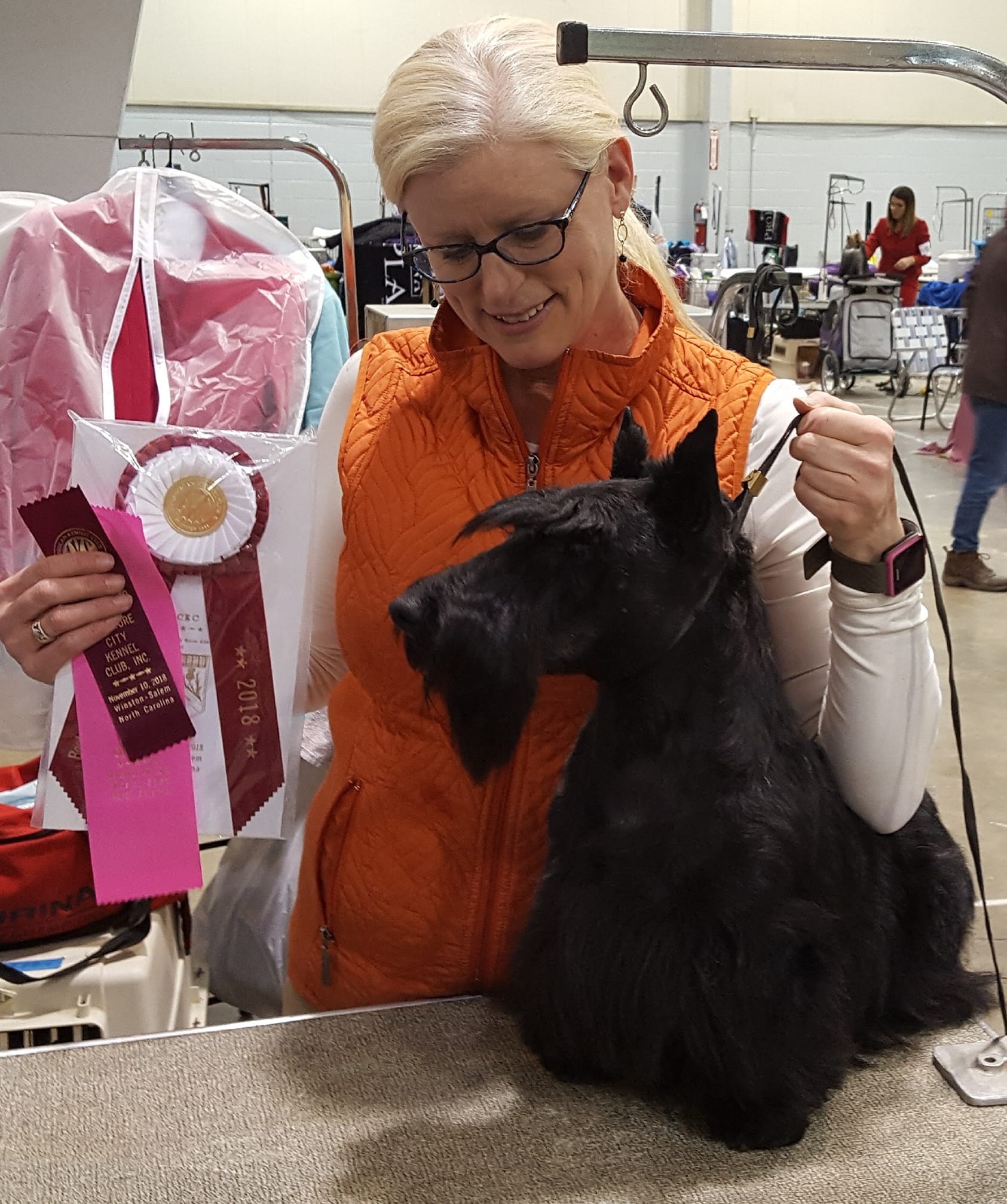 Kari Hill with Keith Keith STCWV 2018 won Best of Opposite Sex and Owner Handler and Owner Handler Group 1 o45793320_10215461030912590_4919483032924061696_o.jpg