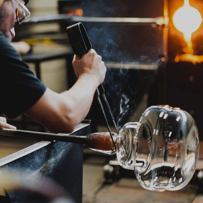 Creating connection through design and craft - We make blown-glass lighting – some of the best in the world. And in doing so, we make space for creativity, community, and innovation to thrive.