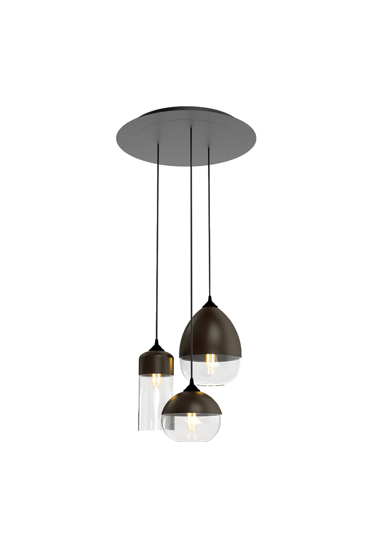 3 Light Round Multi-Pendant Canopy - Product Spec Sheet ↓