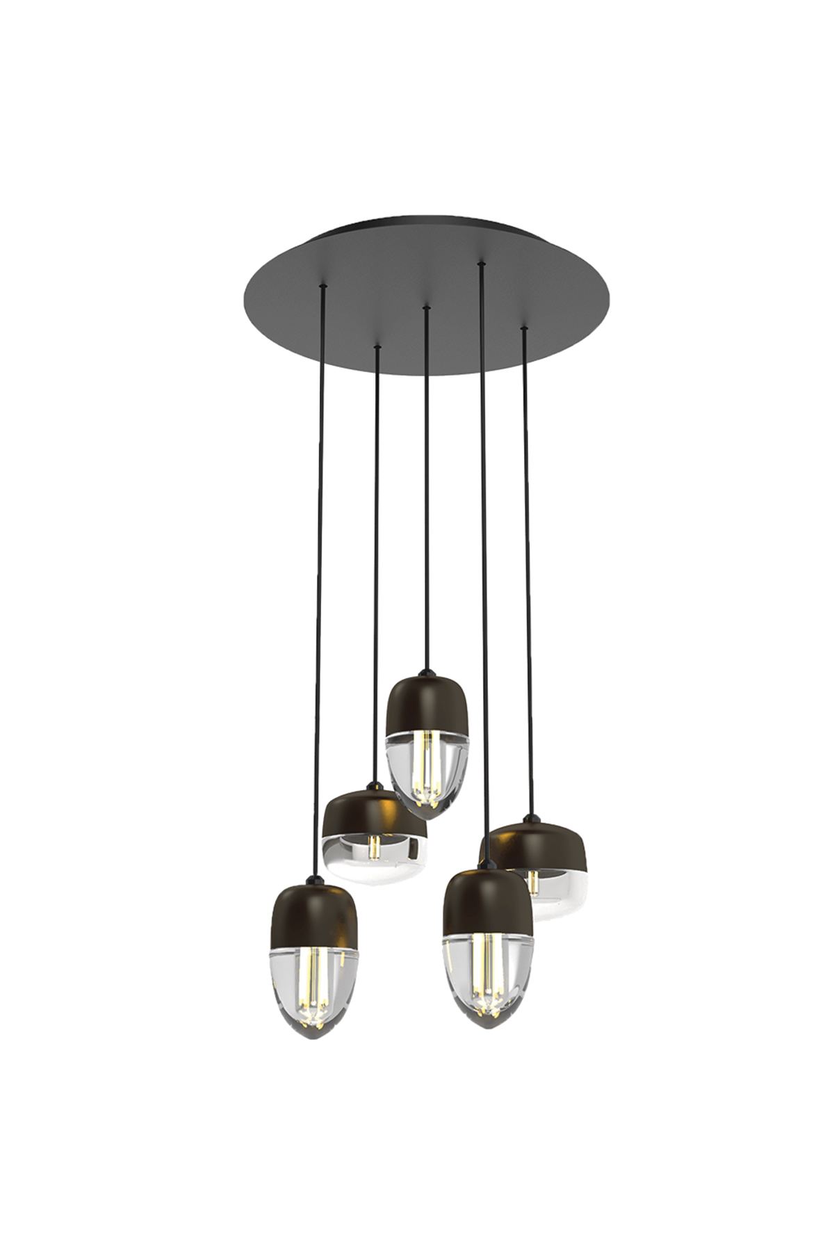 5 Light Round Multi-Pendant Canopy - Product Spec Sheet ↓