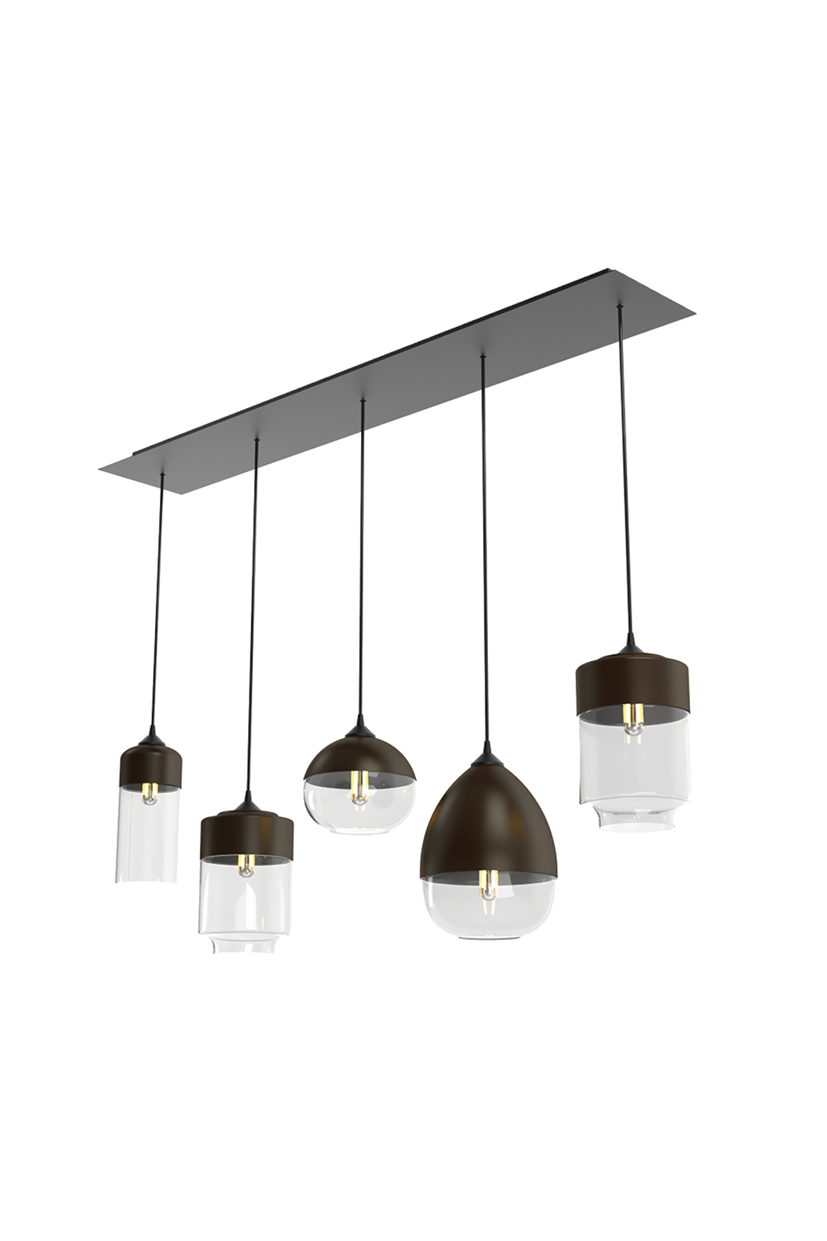 Multi Pendant Light Canopy Cascading Lights