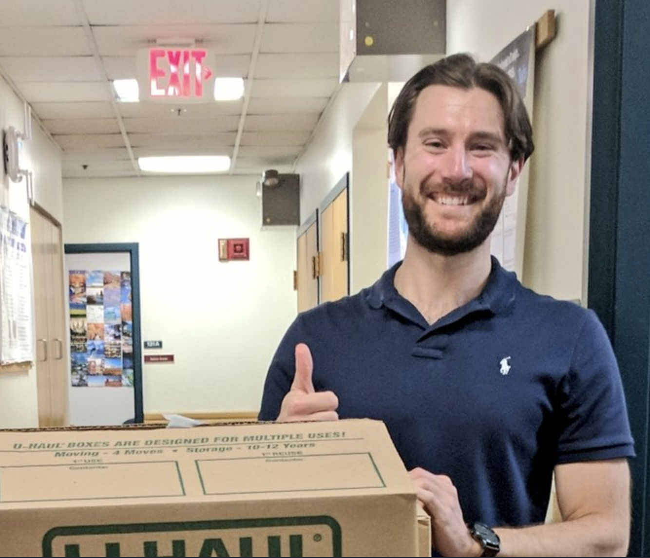 Daniel Schultz collects fitness trackers from RecycleHealth for ChildObesity180 RecycleHealth's donations!  Click on the image to watch a video of Daniel.