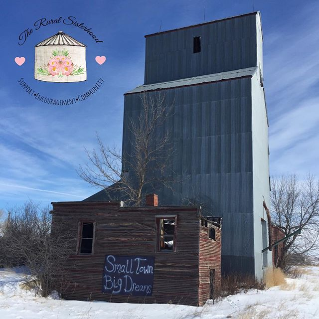It's days like today that I see hopes and dreams more clearly.  #smalltownmontana #bigdreams #hopesanddreams #winter2019 #springiscoming #farmwife #montanaliving #farmlife🚜 #grainelevator #winnetmontana #bigskycountry