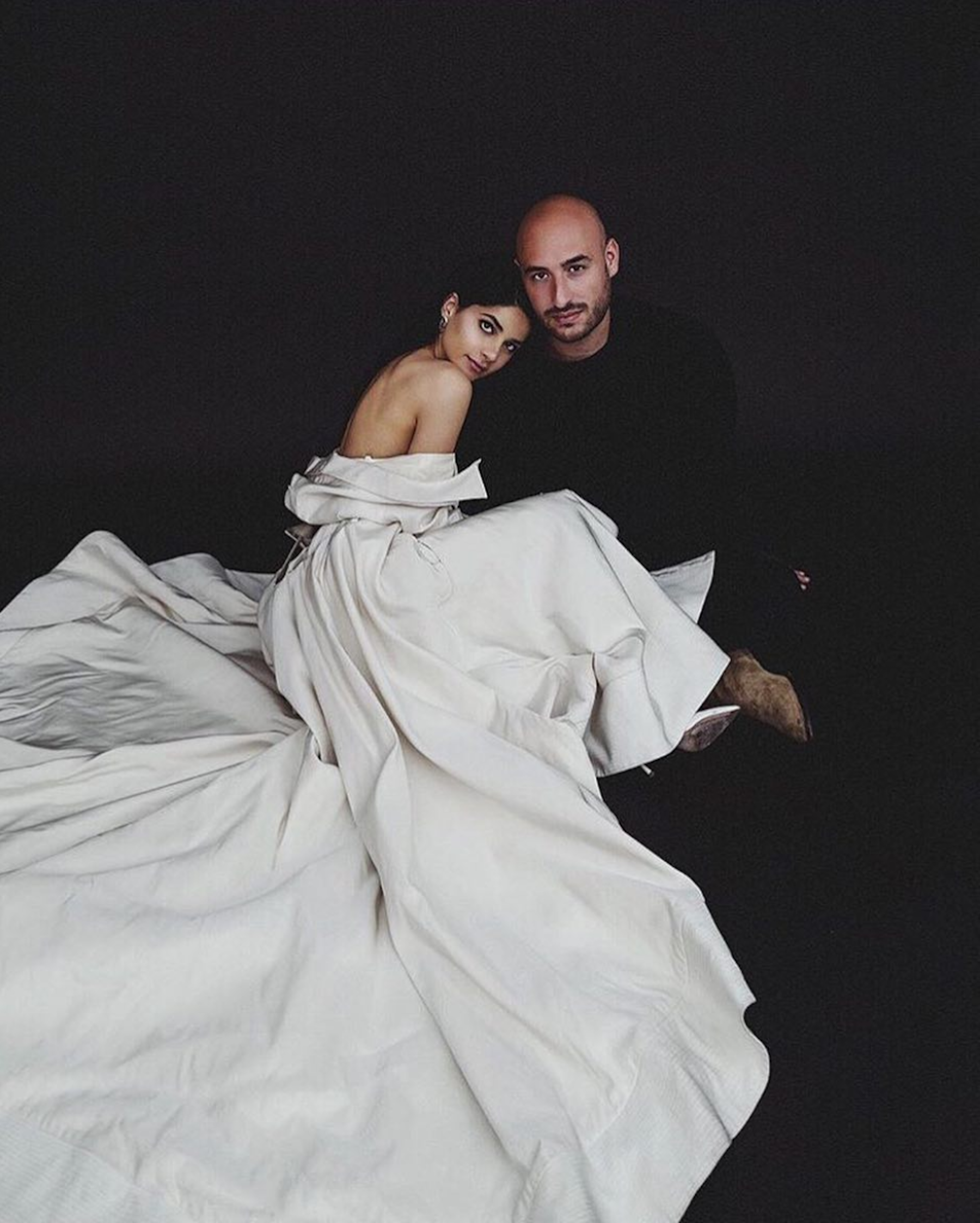 Lainy Hedaya wears Danielle Frankel Studio. - Hard to believe that this stunning capture is from an engagement shoot, but it is. Lainy Hedaya and hubby posed for an intimate shot announcing their impending nuptials.Photo by Jackie Soffer & Shelly Schmool.
