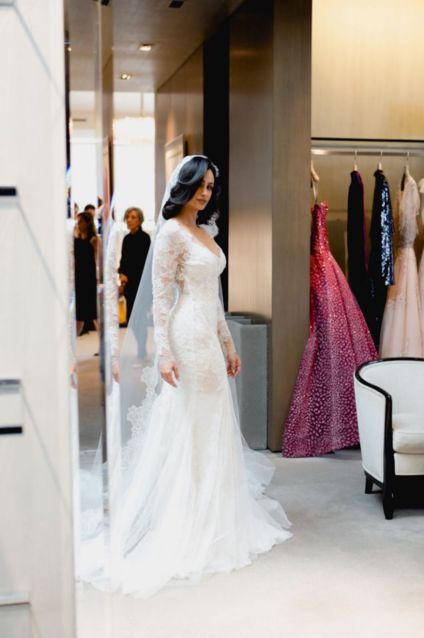 Model/Entrepreneur and now wife of singer Miguel, Nazanin Mandi gave us serious heart eyes in her gorgeous Monique Lhuillier gown. - Photo by Ajarina Hitomi.