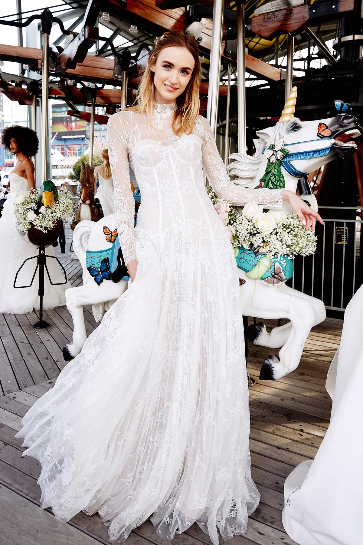 The Highclere gown by Lela Rose Bridal.  Photo credit: Nina Westervelt.