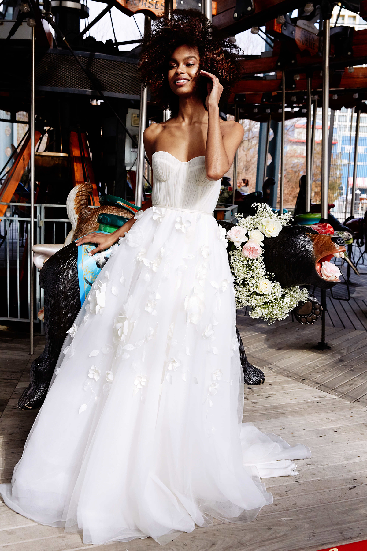 The Montrose gown by Lela Rose.  Photo by Nina Westervelt.