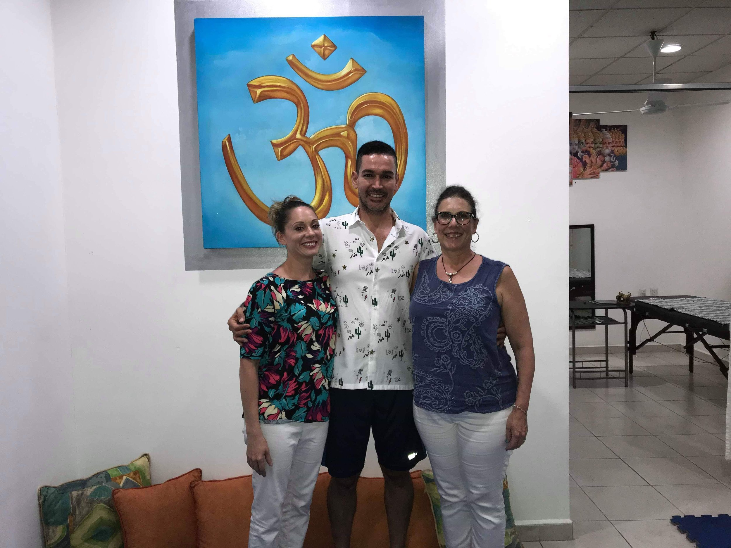 Yoga En Forma, Puerta Vallarta, Jalisco, Mexico YCat teachers Ally, Victor and Sandra Susheela January 2019