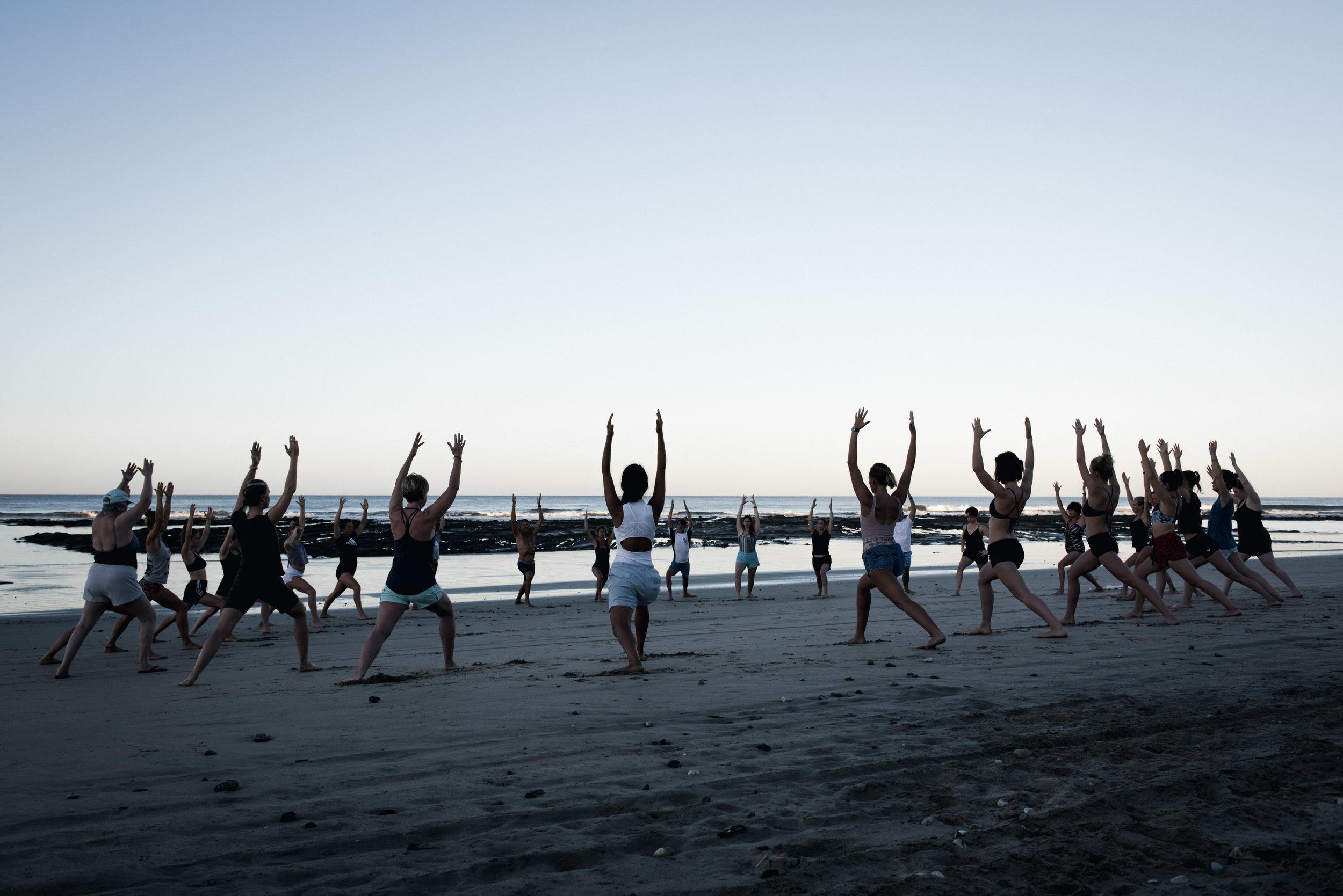 Beach Yoga - Nosara, Costa Rica 2019