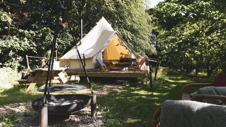 progetti di volontariato per tutte l'età, glamping, tenda, campeggio, danimarca, viaggiare con lentezza