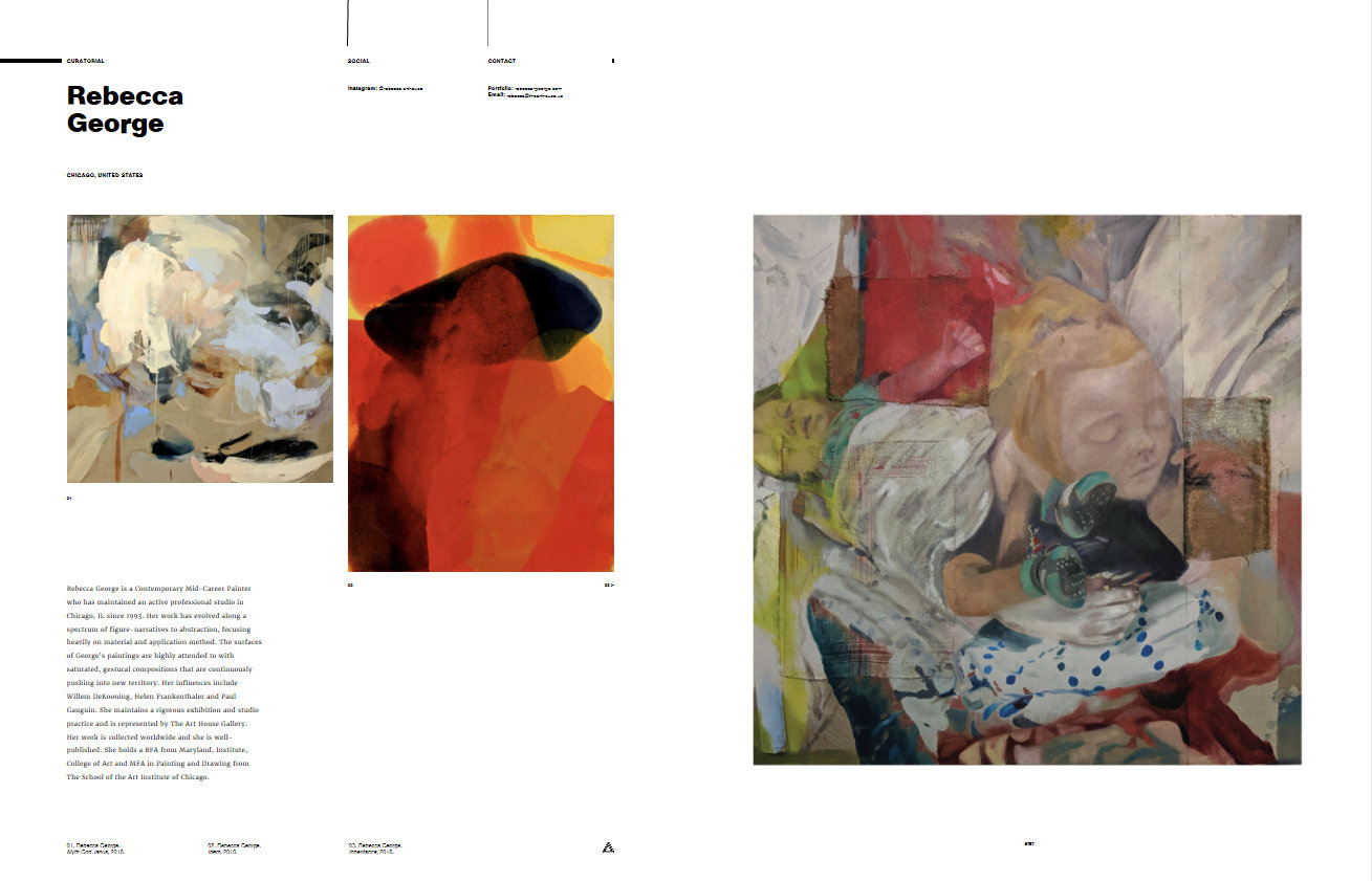 Abstract and Figurative Series by Rebecca George curated into this first edition volume of Leaders in Contemporary Art.