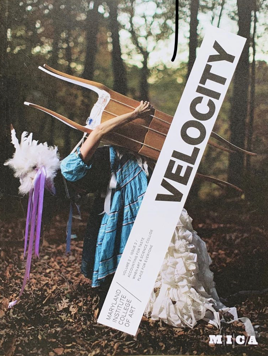 Maryland Institute, College of Art, Velocity Magazine, Volume 2, Issue 2 Cover