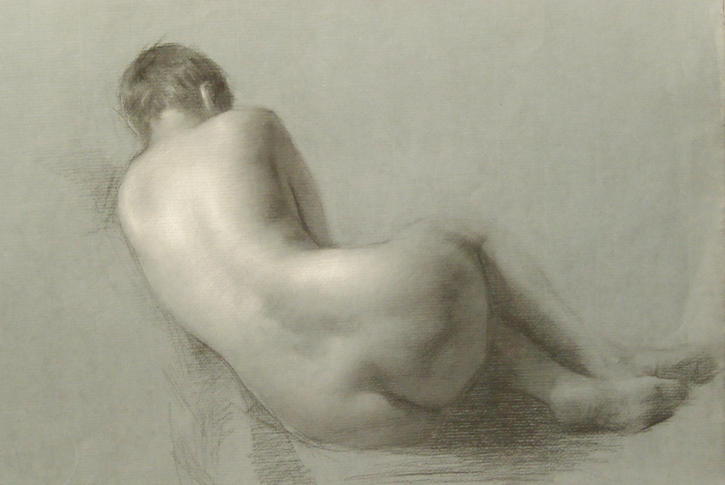 Juliette Aristides_Tami_18x24_Charcoal heightened with White_2011.jpg
