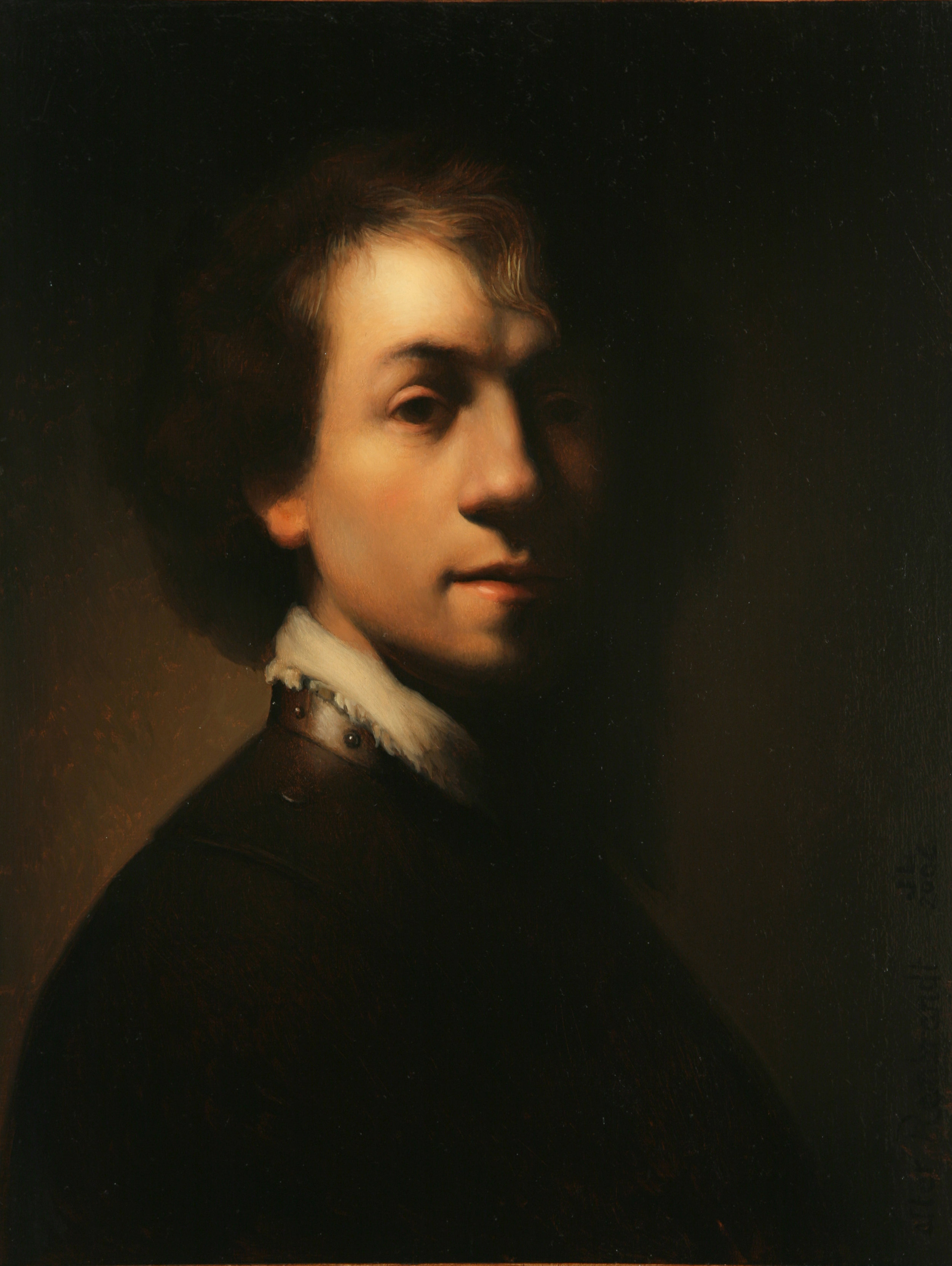 2.) Copy after Rembrandt - oil on panel 2006 - 14 x 11.jpg