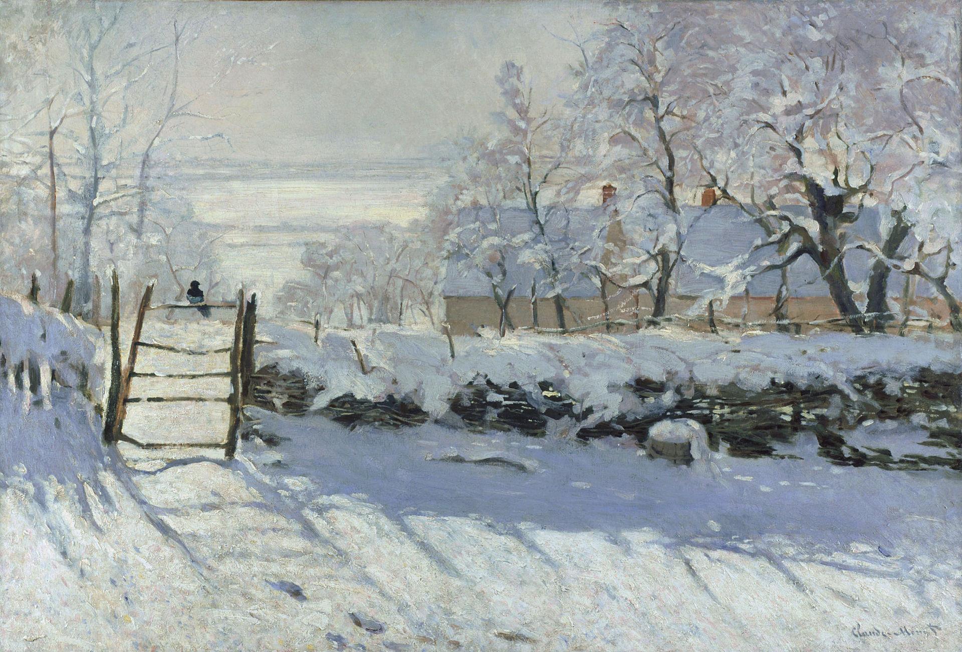 Claude Monet,  The Magpie