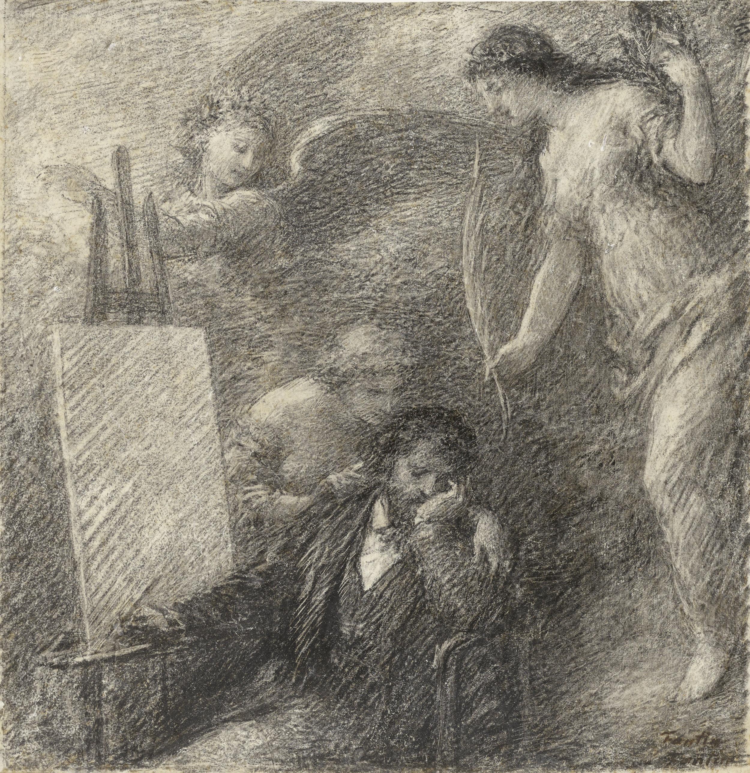 The discouraged Artist by fantin latour (A self portrait)