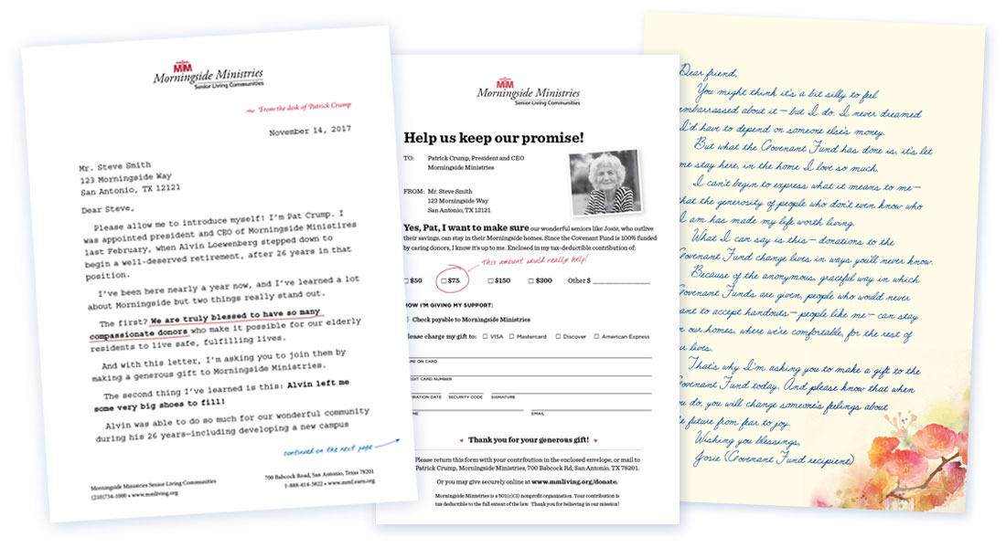 Read the  letter ,  lift note , and  reply form .  Copy and design by Maggie and Andrea.