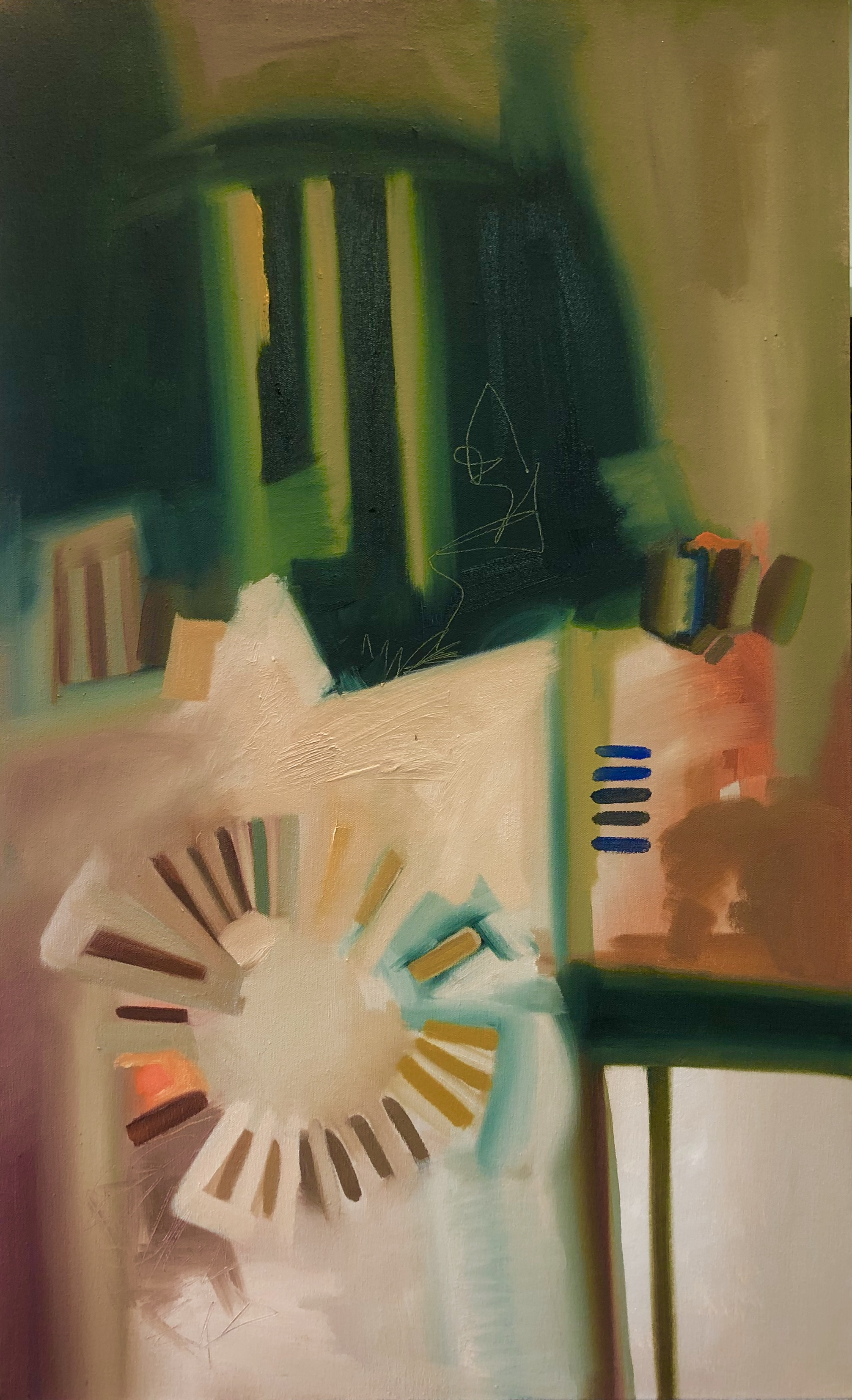 Luminescent,  2019. Oil on Canvas. 30 x 20 in. $750