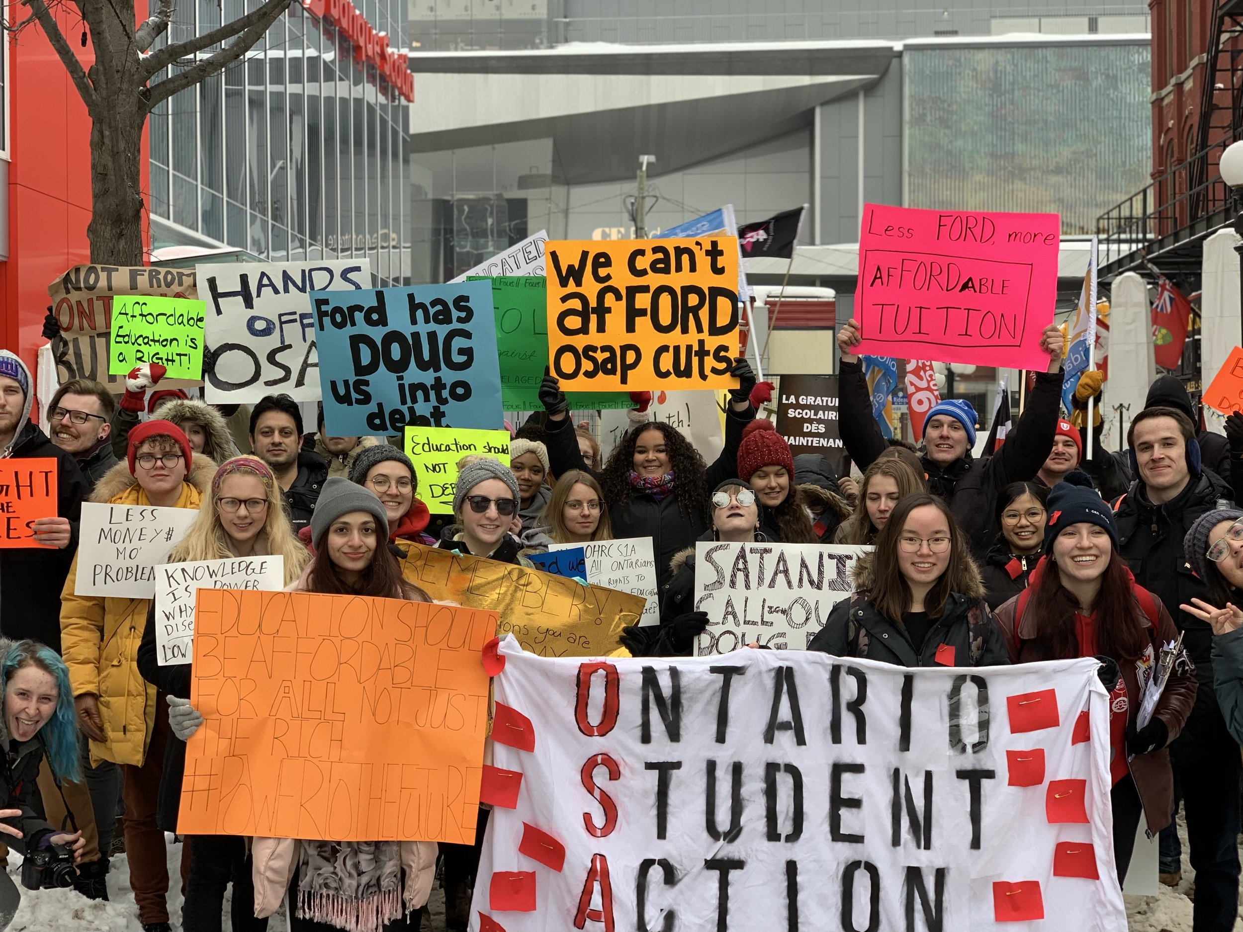 Ontario Student Action Network rally in Ottawa.