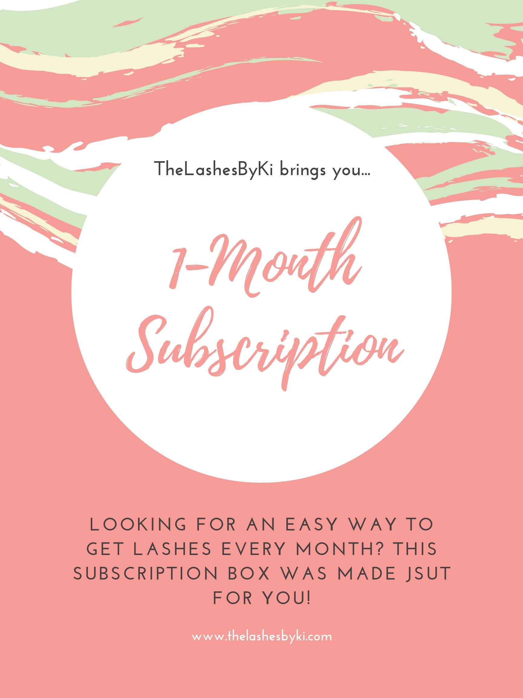 Now introducing Monthly Subscriptions! - Want to enjoy 4+ pairs of lashes every month without the hassle of re-ordering? Sign up for our monthly subscription service! (Also available for 3 month subscriptions). Auto renews. Cancel any time.