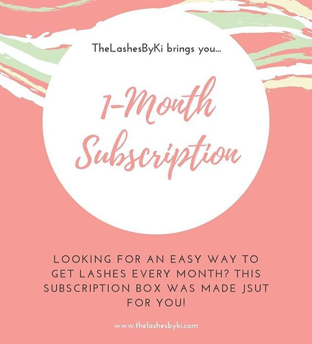 We just launched our SUBSCRIPTION BOXES 📦😍 sign up to get yours now and enjoy 4+ lashes every month hassle free!! Auto renews. Cancel anytime.