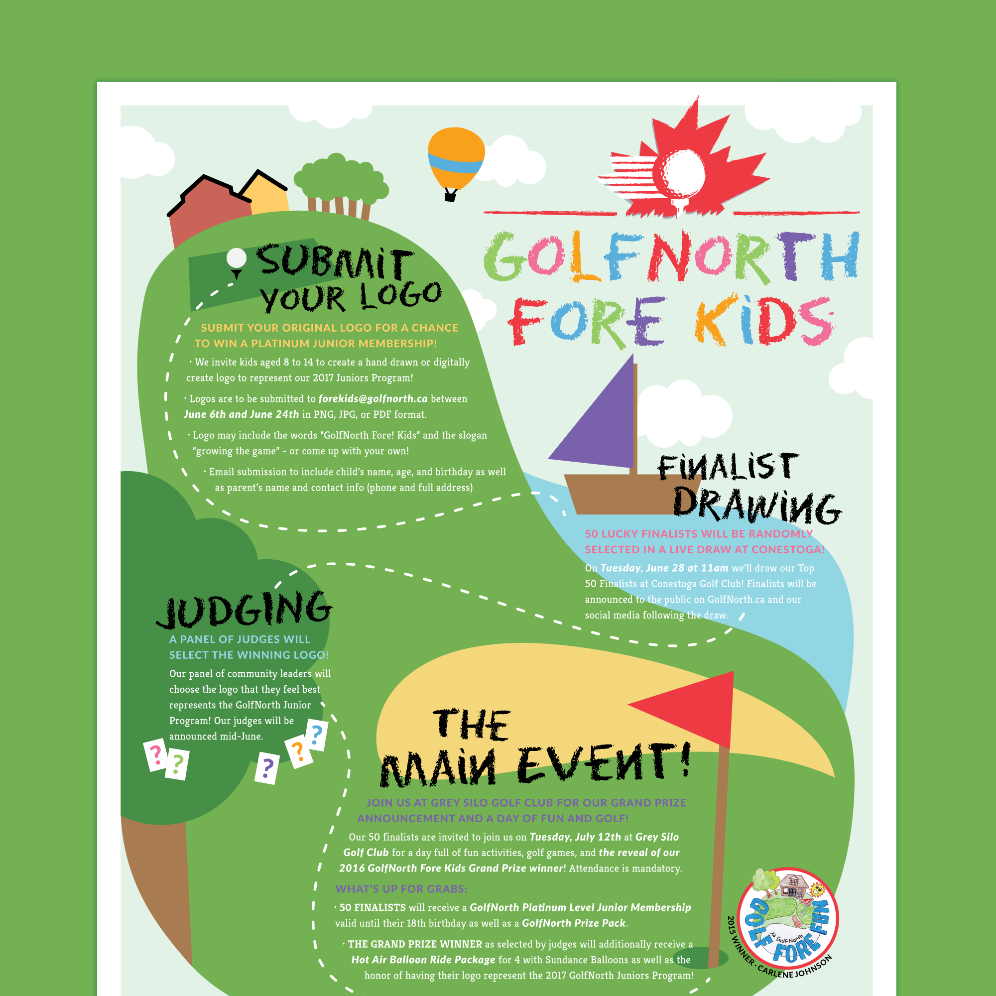 GolfNorth Fore Kids  Poster + Event Design