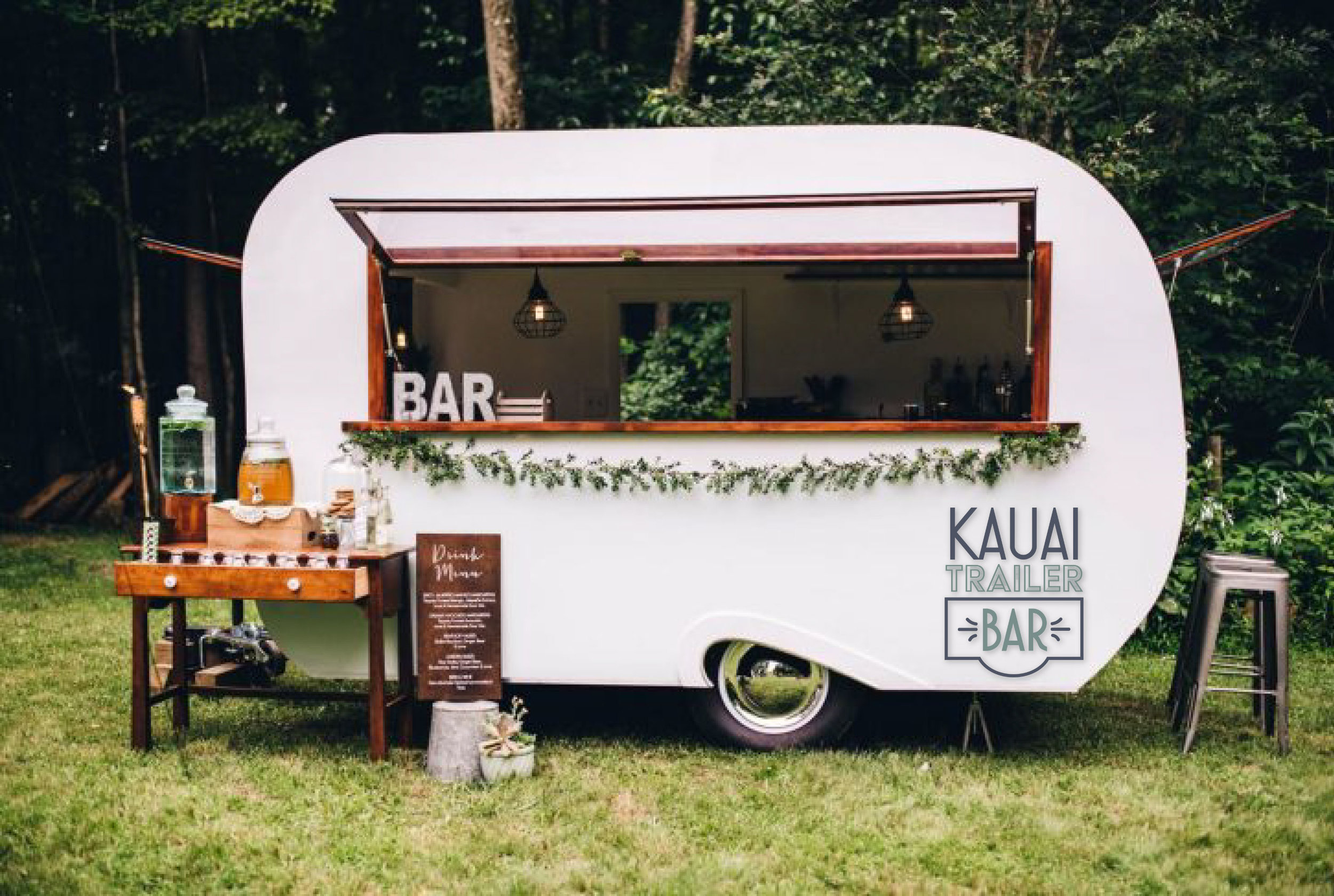 LUana - This custom converted caravan is sure to provide your with all the swagger you need on your special day.