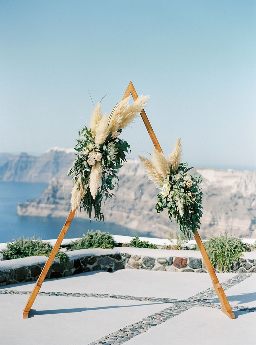 elua - A gorgeous 2 sided triangle arch sure to be the center of your party…*foliage NOT included*