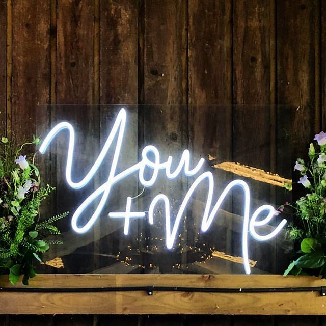 YOU + ME Because we are going gaga over neon signs... and just placed a huge order for so many. Kauai we will have your parties lit. 🔥  Double tap if your into NEON  Came across this photo on pinterest sorry we do not know the owner of the photo.