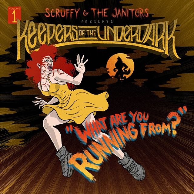 """Scruffy & The Janitors would like to spin a musical web of dreadful, spine-tingling, nightmarish events by way of a new single series """"Keepers of the Underdark"""". 🔮⚰️🧿✨🎶 Volume 1: What Are You Running From? Will be available on all streaming services on Friday the 13th."""